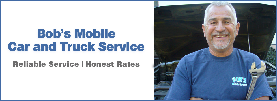 Bob's Mobile Car and Truck Service site banner and photo of Bob